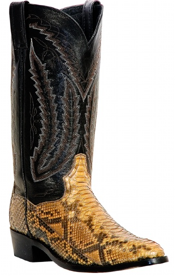 869e2a9d02c Dan Post DPP3040 for $299.99 Men's Omaha Collection Western Boot with Taupe  Python Leather Foot and a Medium Round Toe