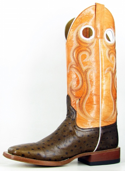 135eb9295fc Anderson Beans HP1031 for $209.99 Mens Horsepower Collection Western Boot  with Chocolate Ostrich Print Foot and a Double Stitch Square Toe