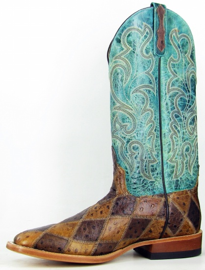 9478f127db8 Anderson Beans HP1075 for $229.99 Mens Horsepower Collection Western Boot  with Angry Bird Patchwork Foot and a Double Stitch Square Toe
