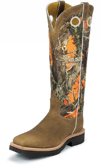 Justin 2114 Men S Snake Proof Western Boot With Rugged Tan