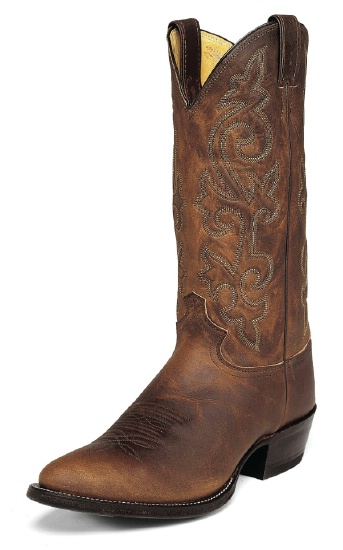 Justin 2252 Men\u0027s Classic Western Boot with Bay Apache Cowhide Foot and a  Narrow Rounded Toe