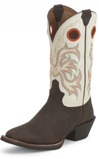 Justin 2526 Men S Stampede Punchy Western Boot With Mocha