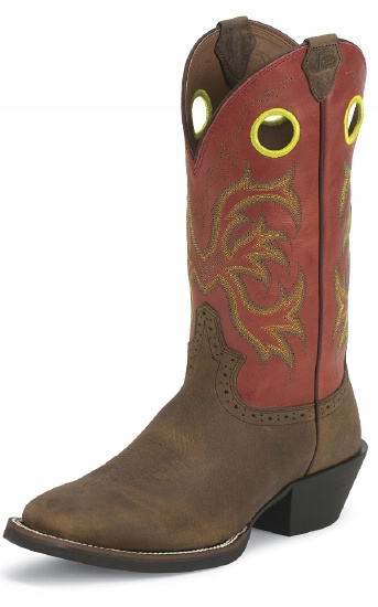 Justin 2527 Men S Stampede Punchy Western Boot With