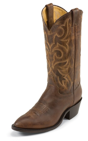 aaa53eb87ab Justin 2704 Men's Classic Western Boot with Tan Distressed Vintage Goat  Foot and a Medium Round Toe