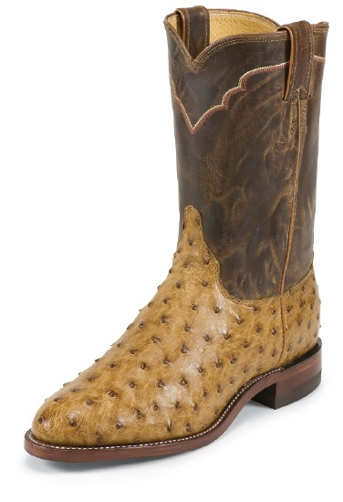 Justin 3190 Men S Exotic Roper Boot With Antique Tan Full