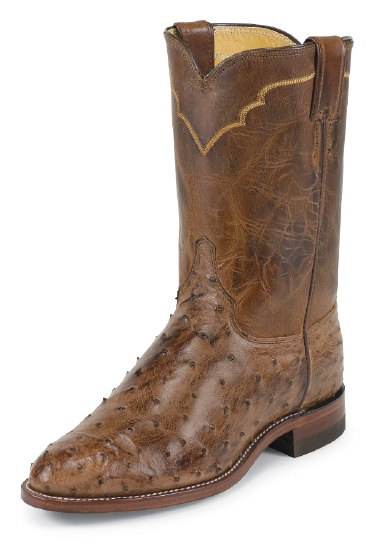 Justin 3191 Men S Exotic Roper Boot With Antique Brown
