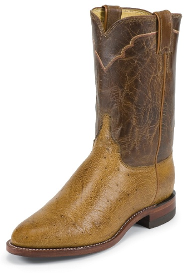 Justin 3290 Men S Exotic Roper Boot With Antique Tan