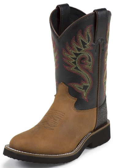 5018Y Youth Cowboy Boot with Coffee Westerner Leather Foot and a ...