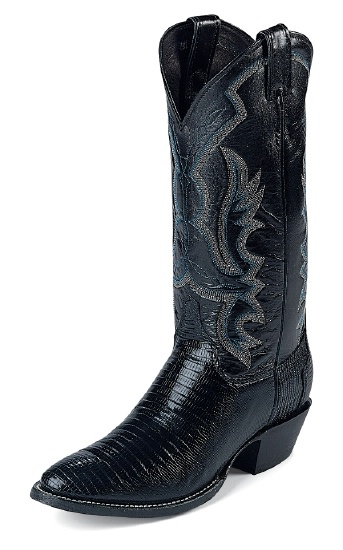 Justin 8313 Men S Exotic Western Boot With Black Lizard