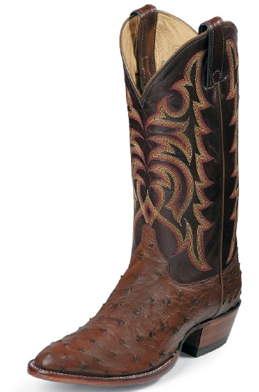 Justin 8927 Men S Exotic Western Boot With Antique Brown