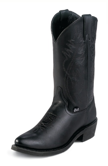 Justin Jb1104 Men S Basic Western Boot With Black Cowhide