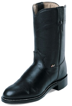 Justin Jbl3000 Ladies Basic Roper Boot With Black Cowhide