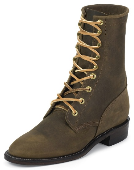 f398aa9e06f6f Justin L0555 Ladies Classic Lace-Up Boot with Bay Apache Cowhide ...