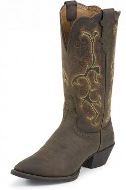 Justin L2551 Ladies Stampede Western Western Boot With