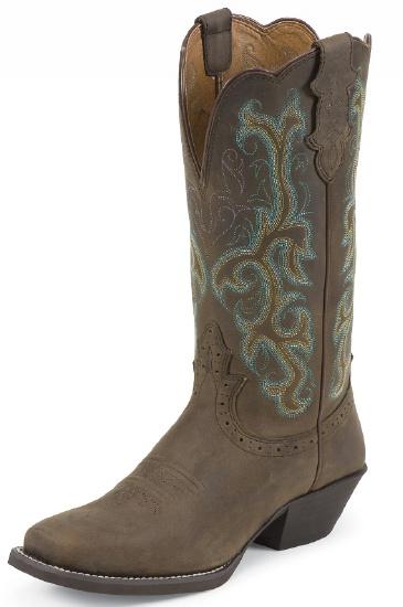 Justin L2552 Ladies Stampede Western Western Boot With