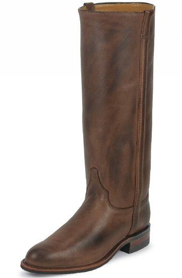 e8fad230bcd Justin L3851 Ladies Santa Fe Fashion Boot with Chocolate Deertan Cowhide  Foot and a Roper Toe