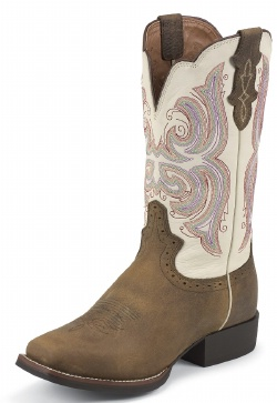 Justin L7200 Ladies Stampede Cattleman Western Boot With