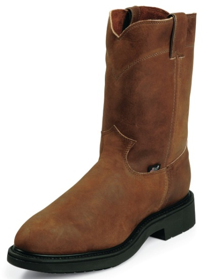 Work Boot with Bay Apache Leather Foot