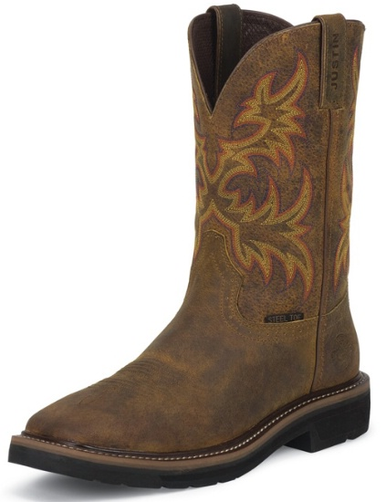 Justin Wk4682 Men S Stampede Collection Work Boot With