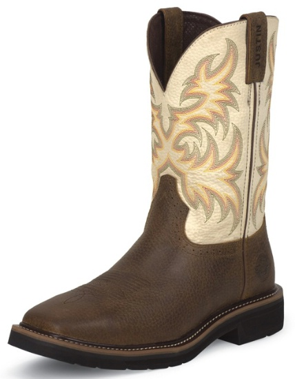 Justin Wk4683 Men S Stampede Collection Work Boot With