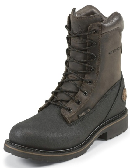 Justin Wk840 Men S Work Tek Collection Work Boot With Black Tectuff