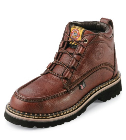 Justin WK900 Men\u0027s Casual Collection Work Boot with Rustic Cowhide Leather  Foot and a Round Steel EH Rated Toe