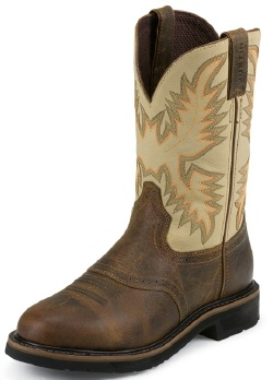 Justin Wkl4660 Ladies Stampede Collection Work Boot With