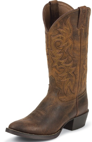 819f622b279 Justin 2561 Men's Stampede Western Western Boot with Rugged Tan Cowhide  Foot and a Medium Round Toe