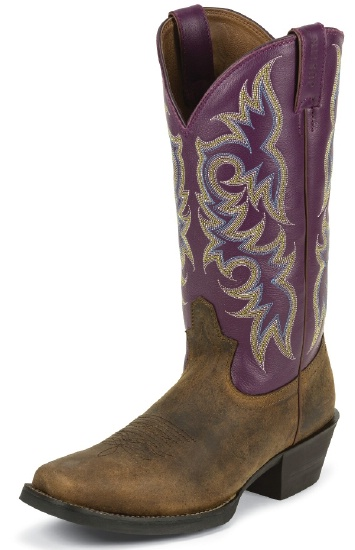 Justin 2562 Men S Stampede Western Western Boot With Tan Distressed