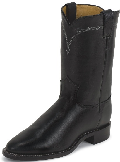 7306b761c4b Justin 3233 Men's Classic Roper Western Boot with Black Chester Foot and a  Roper Toe