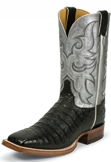 Justin 9613 Men S Exotic Western Boot With Black Vintage