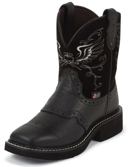 e2a713efd2 Justin 9977JR Kids Gypsy Western Boot with Black Buffalo Foot with ...