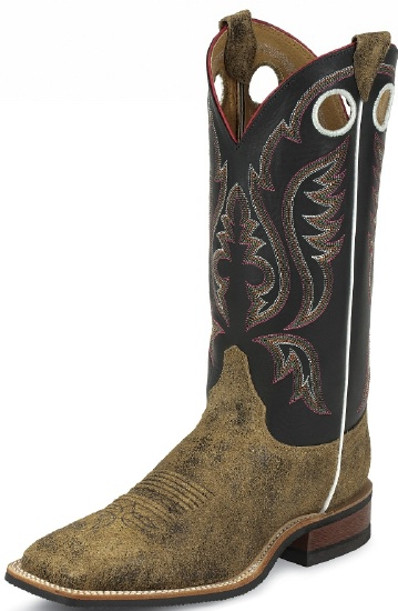03dbcdc09 Justin BR353 Men s Bent Rail Western Boot with Brown Bomber ...
