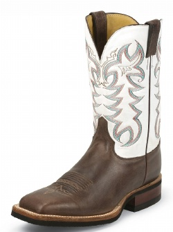 Justin 7052 Men S Q Crepe Boot With Chocolate America Cow