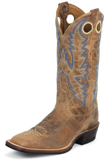 fcced1512 Justin BR376 Men s Bent Rail Boot with Tan Puma Cow Foot and a ...