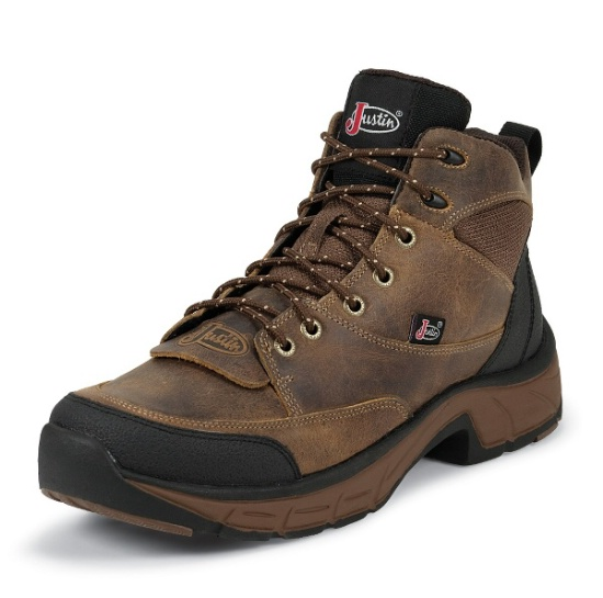Justin L0928 Ladies Stampede Boot With Tan Distressed