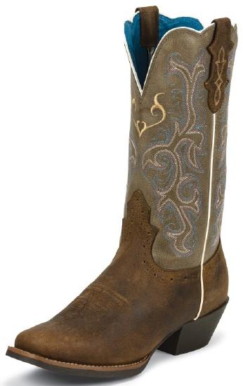 Justin L2566 Ladies Stampede Western Western Boot With