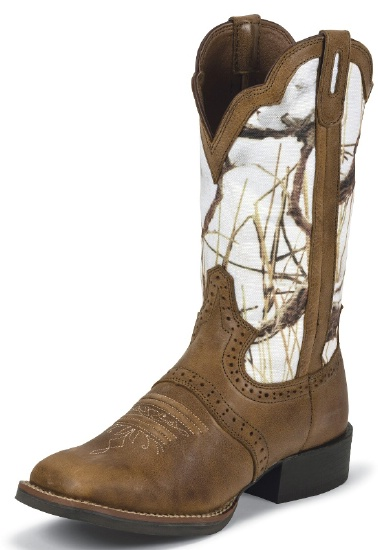 Justin L7203 Ladies Stampede Western Western Boot With Tan