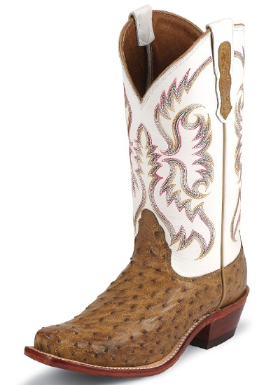 ed23f0b32bf Nocona LD6511 Ladies Exotic Western Boot with Antique Saddle Full Quill  Ostrich Foot and a Punchy Square Toe