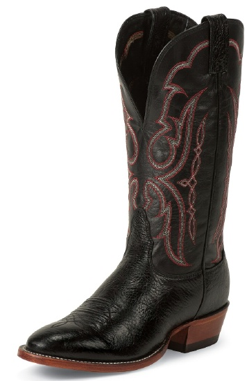 9ea161cf240 Nocona MD3005 Men's Bull Shoulder Western Boot with Black Bullhide Foot and  a Round Toe