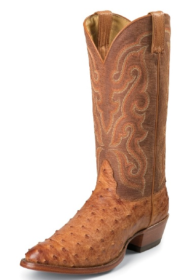 a1b74d88df0 Nocona MD8502 Men's Exotic Western Boot with Cognac Vintage Full Quill  Ostrich Foot and a Medium Round Toe