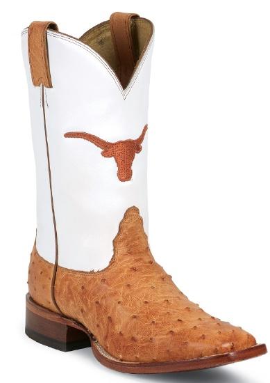 c2ecebbafc9 Nocona MDUT02 Men's Collegiate Western Boot with Cognac Full Quill Ostrich  Foot, Wide Square Toe