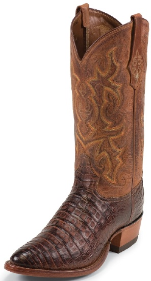 5918d7a94a5 Tony Lama 1052 Men's Exotic Collection Western Boot with Cognac ...