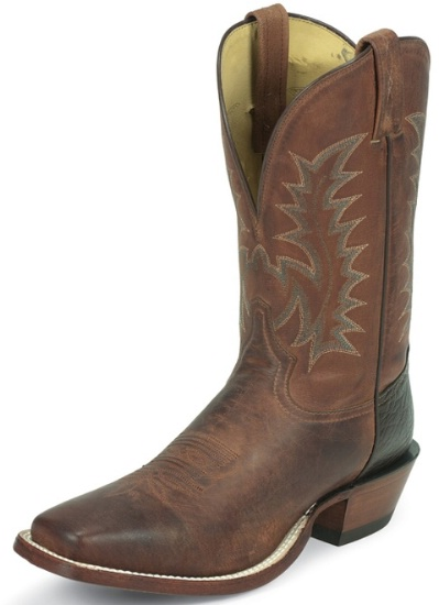 6cc032e37dd Tony Lama 6976 Men's Cowboy Collection Stockman Boot with Rust Tuscan Goat  Leather Foot and a Double Stitched Medium Wide Square Toe