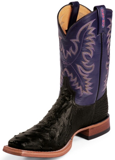 12d98639674 Tony Lama 8996 Men's USTRC Collection Stockman Boot with Black Triad  Construction Full Quill Ostrich Leather Foot and a Double Stitched Medium  Wide ...