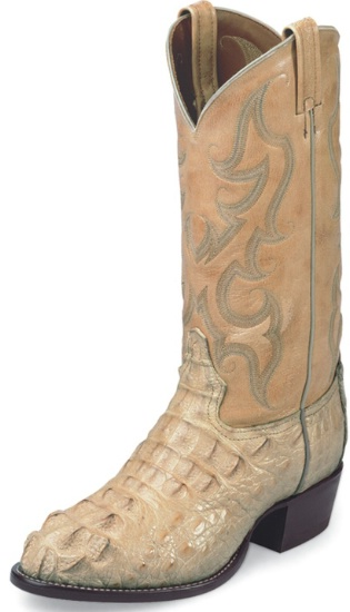 3b729b917cf Tony Lama CZ1020 Men's Exotic Collection Western Boot with Oryx Bodycut  Royal Hornback Caiman Leather Foot and a Medium Round Toe
