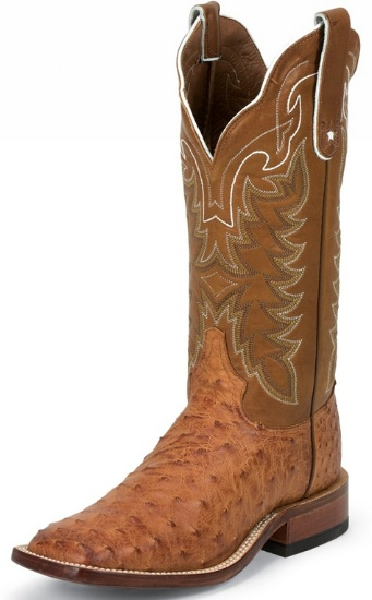 e376ac2e1f3 Tony Lama E9321 Men's San Saba Collection Western Boot with Cognac Vintage  Full Quill Ostrich Leather Foot and a Double Stitched Wide Square Toe
