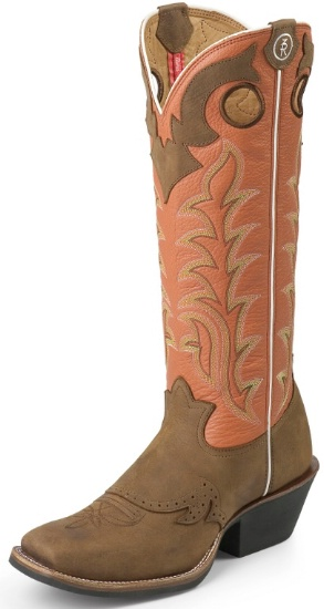 520fc57bb52 Tony Lama RR1001 Men's 3R Collection Buckaroo Boot with Sorrel Bridle  Leather Foot and a Double Stitched Medium Wide Square Toe