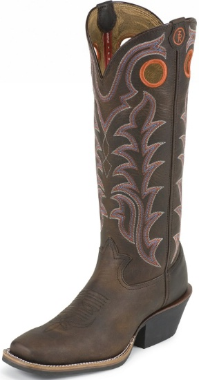 19238af76b3 Tony Lama RR1008 Men's 3R Collection Buckaroo Boot with Auburn Maverick  Leather Foot and a Double Stitched Medium Wide Square Toe