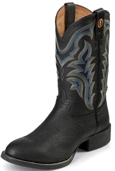 285b498b4f4 Tony Lama RR1104 Men's 3R Collection Stockman Boot with Black Shoulder  Grain Leather Foot and a Wide Round Toe